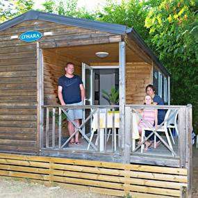 Wood mobile home lodges rental at le pradet, eco-friendly ...
